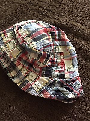 Janie and Jack Cotton Madras Infant Sun Hat 12 18 24 Months Boy Girl
