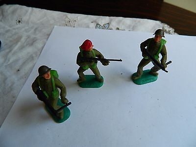 Three Timpo British Army  Soldiers