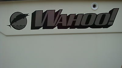 Brand New (Pair) Wahoo Boat Decals w/ Free Window Sticker Just Like Originals