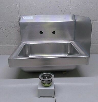 """EQ 1 Compartment Commercial Wall Mount Kitchen Sink Stainless Steel 17""""x15""""x13"""""""