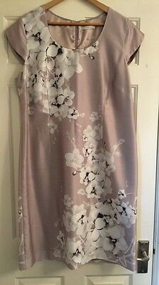Ladies Dress Jacques Vert Orchard Placement beaded Size 18 Mother Of The Bride