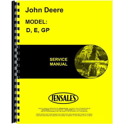 New Service Manual for John Deere D Tractor
