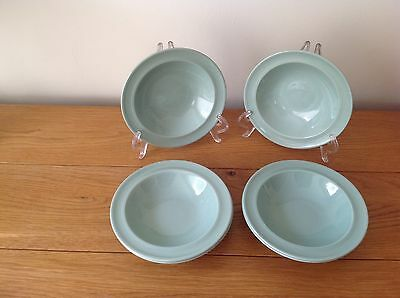 Woods Ware Beryl Cereal/Soup Bowls x 6.