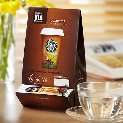 Starbucks Via Colombia Ready Brew 301 Ct IMPORTANT AND MANDATORY READ BELOW