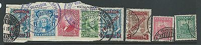 Ecuador Colombia 1928 Scadta Issues Some Used On Piece!