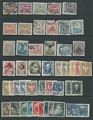 Poland Nice Collection Earlier Mh Used Good Lot!