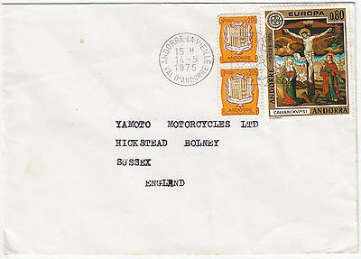 X7065 Andorra commercial cover to UK. Andorre la Vieille 1975. 1.20 rate