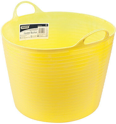 Genuine DRAPER 42L Multi Purpose Flexible Bucket - Yellow | 49098