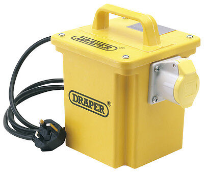 DRAPER Expert 1kVA 230V to 110V 16A Single Outlet Portable Transformer | 62001