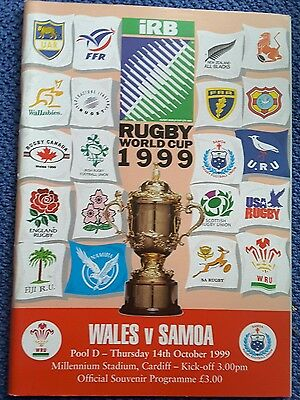 WALES v SAMOA RUGBY WORLD CUP 1999 PROGRAMME