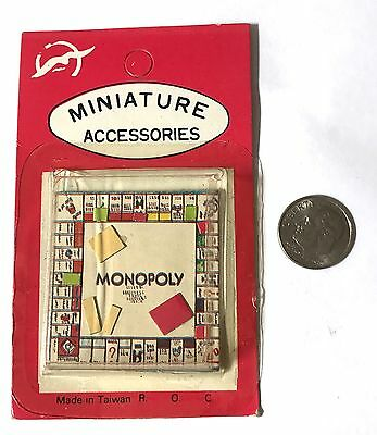 Vintage 1970's Miniature Dollhouse Monopoly Board Game Toy Taiwan New Old Stock