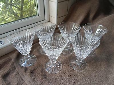 Set of Six Waterford Crystal Lismore Claret Glasses