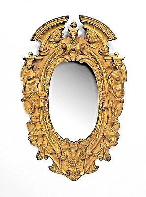 American Victorian Style (1st Qtr, 20th Cent) Gilt Bronze Oval Wall Mirror Frame