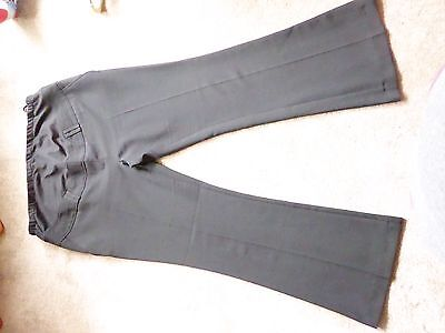 Peacocks Black Maternity Smart Trousers Size 16