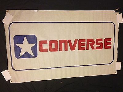Vintage Converse Poster Banner All Star Skateboard Basketball Rare Shoes