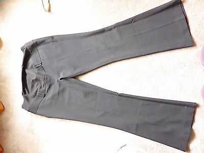 Peacocks Black Maternity Smart Trousers Size 14