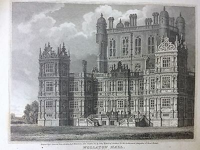 1809 Print; Wollaton Hall, (Nottingham Natural History Museum). Nottingham