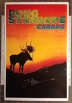 Doug Stanhope Autographed Poster Canadian Tiny Blisters Tour Comedy Stand Up