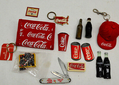 Coca-Cola Advertising Novelty Assortment! Magnets, Wallet, Keychains, More!