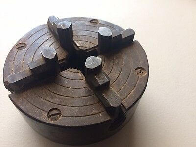 Four jaw lathe chuck, 4 inch in diameter