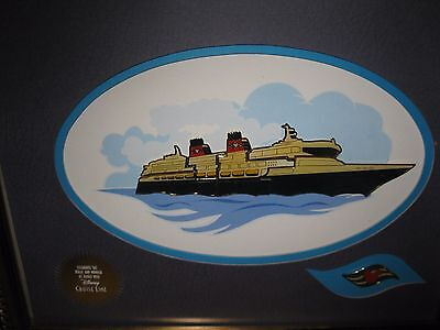 Disney Cruise Line AAA/CAA Member Benefit Cruise Ship Pin Set Framed Picture