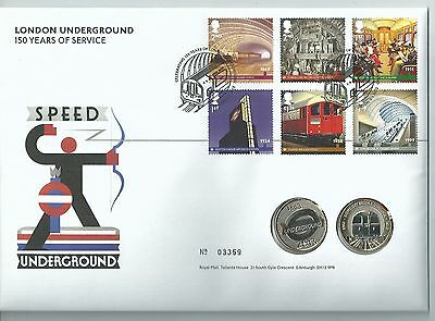 GB 2013 London Underground - 2 x £2 Coin Cover - Ltd Ed No. 03359