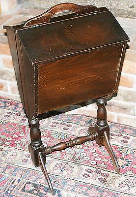 Antique Wooden Art Deco Standing Sewing knitting Chest Caddy Cabinet