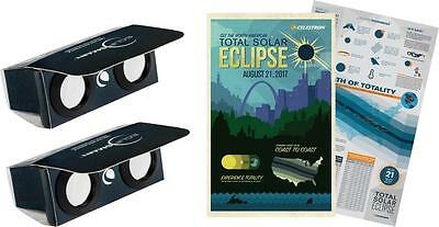 Celestron - EclipSmart 2x Power Viewers Sun and Eclipse Observing Kit