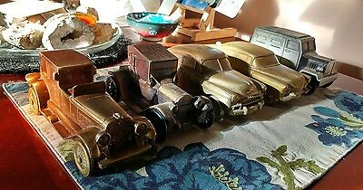 Vintage Banthrico 1974 Metal Coin Banks - LOT OF 5 CARS Chicago ~ One Key • $5.00