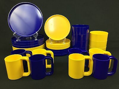 Heller Ware Massimo Vignelli 31-Piece Set for 7-8 Blue & Yellow Gorgeous