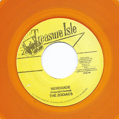 THE ZODIACS Renegade TREASURE ISLE  (reissue orange) Monster Ska 7""