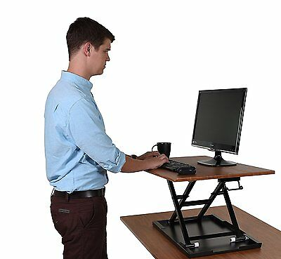 AirRise – Standing Desk Converter | Adjustable Height Pneumatic Stand Up Desk –