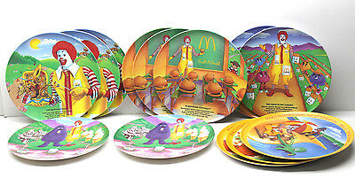 """13 Ronald McDonald Collection Plastic 9.5"""" Dinner Plates + 10"""" Serving Trays"""
