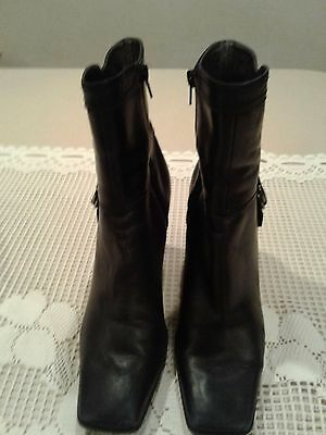 Women's Nine West Leather Ankle Boots Size 7.5M