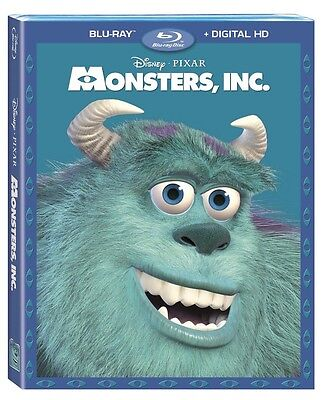 Disney Pixar Monsters, Inc (Blu-Ray+Digital Hd)W/sleeve Brand New