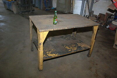 """Heavy duty Welding table;1-1/8""""thick;48 x 30""""top;34""""height INV=25026"""