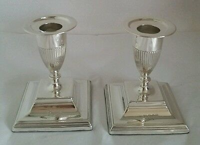 Victorian Sterling silver Candlesticks. London 1892. By Horace Woodward & Co