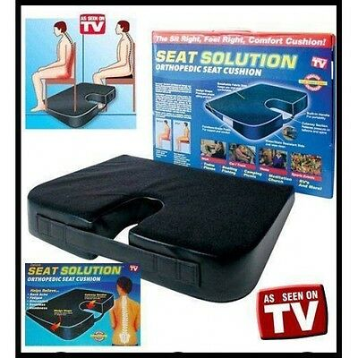 New Seat Solution Orthopedic Seat Cushion Memory Foam Non Slip Spinal Alignment