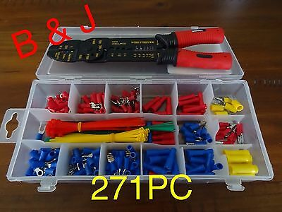 271 PC Crimping Tool Set Electrical Connection Auto Cable Wire Terminal Connecto