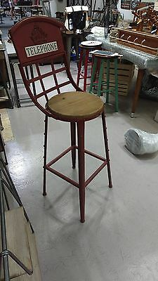 Brand New ,Old antique Style high stool , London telephone Design Red Color