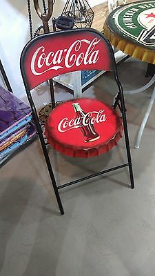 Brand New Coca Cola Folded Metal Chair , Antique old Design