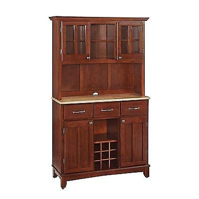 Home Styles 5100 0071 72 Buffet of Buffets Natural Wood with Hutch, Cherry...