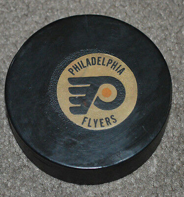Vtg New York Rangers @ Philadelphia Flyers Converse Game Used Puck 12/7/78