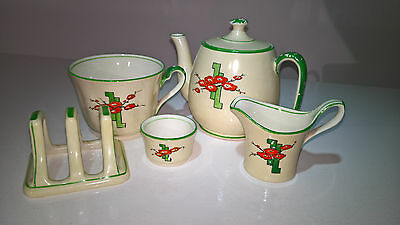 Royal Winton Grimwades Ivory Poppies Breakfast Set For One
