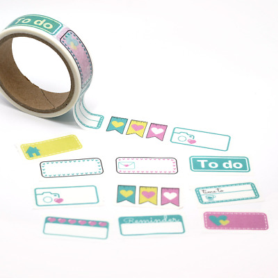 Washi Tape - Serrated - Planner Boxes - To Do Stickers  15mm x 5m Cute Washi Tab