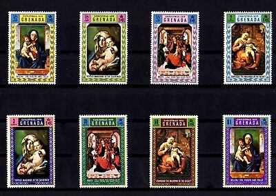 Grenada - 1970 - Christmas - Madonna & Child - Saint Peter ++ 8 X Mint- Mnh Set!