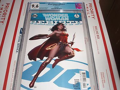 Wonder Woman: Rebirth #1 Cgc 9.6 (Artgerm Cover)