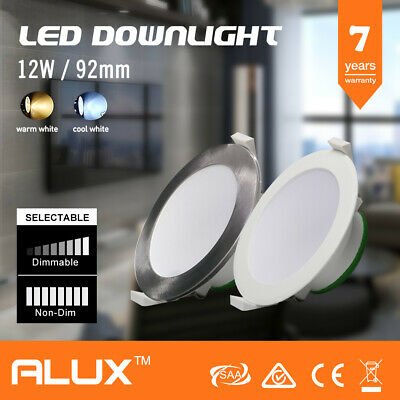 12W Led Downlight Kit Led Warm Cool Day Light White Dimmable Non Dim Ic-F Saa