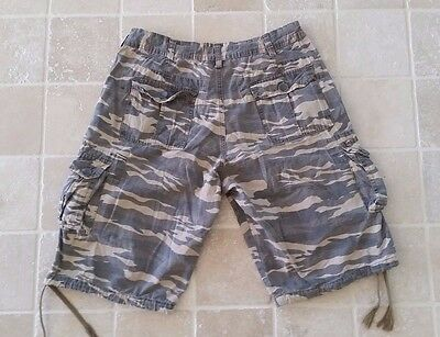 Men's Billabong Camouflage Cargo Shorts Size 34 Rrp $90.