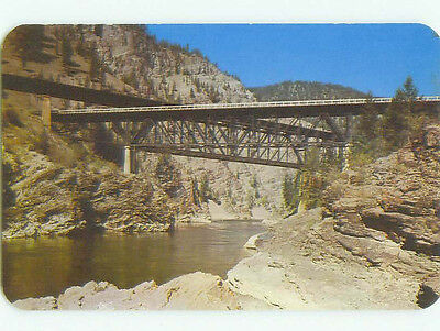 Unused Pre-1980 BRIDGE SCENE Alberton And Superior Montana MT HQ9403